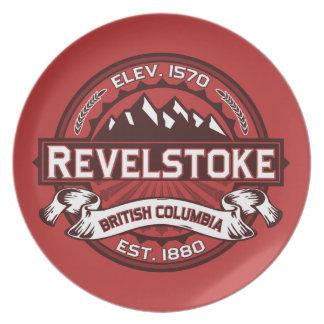 Revelstoke都市ロゴ ディナープレート
