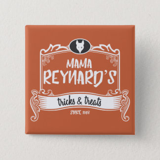 Reynard's Tricksママ及び御馳走ボタン 5.1cm 正方形バッジ