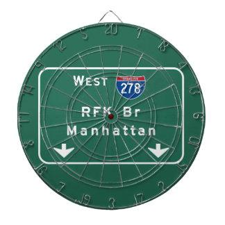 RFK橋I-278州連帯NYCニューヨークシティNY ダーツボード