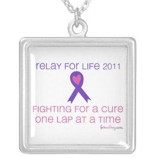 RFLのスローガンを用いる希望の2011年のリボン シルバープレートネックレス