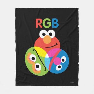 RGBのセサミストリート フリースブランケット