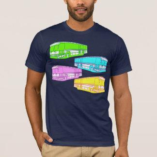 RGBのポップ・アートのなバス Tシャツ