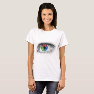 RGBの着色された目 Tシャツ