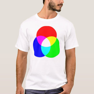 RGB及びCYMの両面ティー Tシャツ