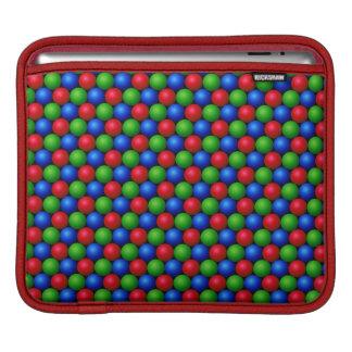 RGB球パターンデザインのiPadの袖 iPadスリーブ