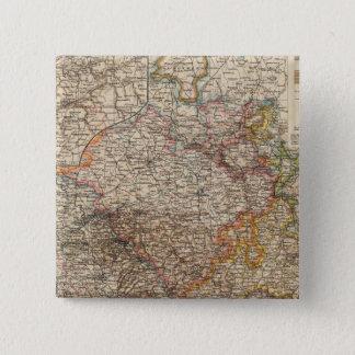 Rhenishプロシア、ウエストファーレン、HesseNassau 5.1cm 正方形バッジ
