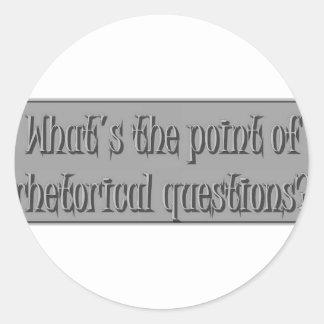 Rhetiricalの質問謎解き問題 ラウンドシール