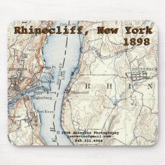 Rhinecliffの歴史的な地図のmousepad マウスパッド