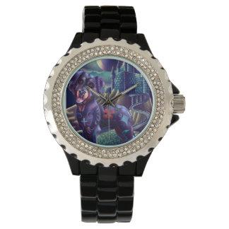 Rhinstoneのカスタムな腕時計Roxyロットワイラー 腕時計