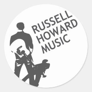 RHMのロゴのステッカー ラウンドシール
