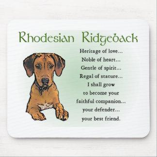 Rhodesian Ridgebackのギフト マウスパッド