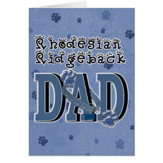 Rhodesian Ridgebackのパパ カード