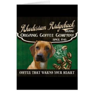Rhodesian Ridgebackのブランド- Organic Coffee Company カード