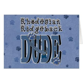 Rhodesian Ridgebackの男 カード