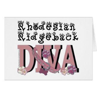 Rhodesian Ridgebackの花型女性歌手 カード
