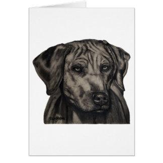 Rhodesian Ridgeback犬の芸術-ズールー カード