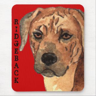 Rhodesian Ridgeback色のブロック マウスパッド