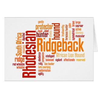 Rhodesian Ridgeback カード