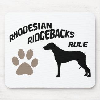 Rhodesian Ridgebacksの規則 マウスパッド