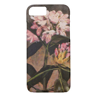 Rhododendron Pink Painted Floral Blooms iPhone 8/7ケース