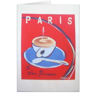 Rhonelロバーツ著パリCappucinnoのノート カード