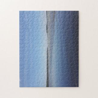 Rhossili湾の写真のパズルの青い反射 ジグソーパズル