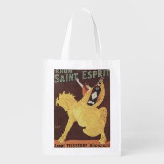 Rhumの聖者Esprit -アンドレTeissedreの広告宣伝 エコバッグ