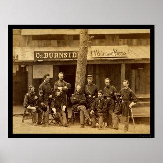 RIのAmbrose Everett Burnsideは1861年を自ら申し出ます ポスター
