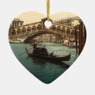 Rialto橋I、ベニス、イタリア セラミックオーナメント