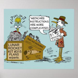 Ricレオナルドポスターによる医療保障の冗談の漫画 ポスター