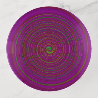 Rich Colorful Multicolored Swirl >Trinket Tray トリンケットトレー