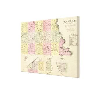 Richardson郡、ネブラスカ キャンバスプリント