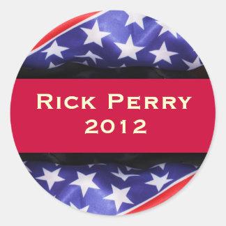 Rick Perry 2012のキャンペーンステッカー ラウンドシール