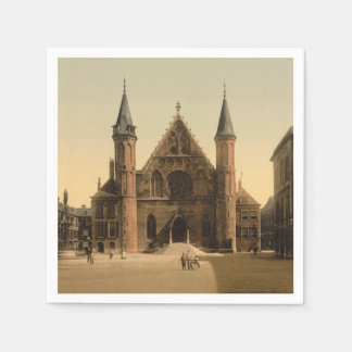 Ridderzaal (騎士のホール)、ハーグのオランダ スタンダードカクテルナプキン