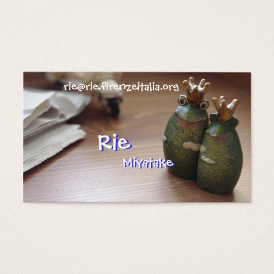 Rie, Rie,... 名刺