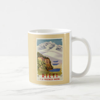 Rieti Sabina vintage Italian travel poster コーヒーマグカップ
