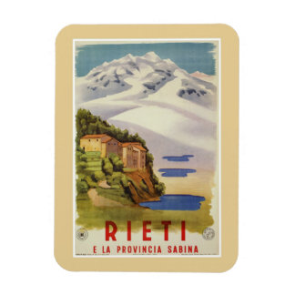 Rieti Sabina vintage Italian travel poster マグネット