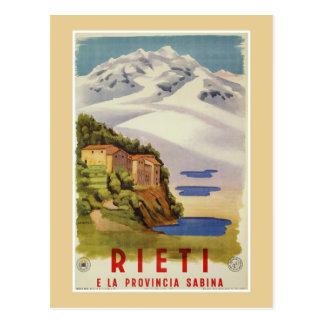 Rieti Sabina vintage Italian travel poster ad ポストカード