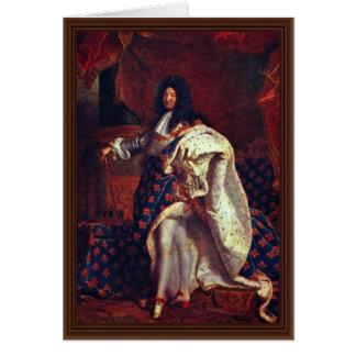 Rigaud Hy著フランスのなの王ルイ14世のポートレート カード