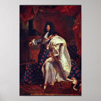 Rigaud Hy著フランスのなの王ルイ14世のポートレート ポスター