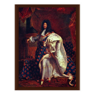 Rigaud Hy著フランスのなの王ルイ14世のポートレート ポストカード