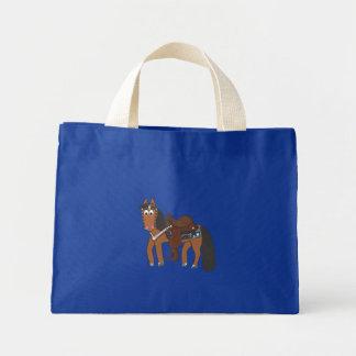 Rikiの西部の馬 ミニトートバッグ