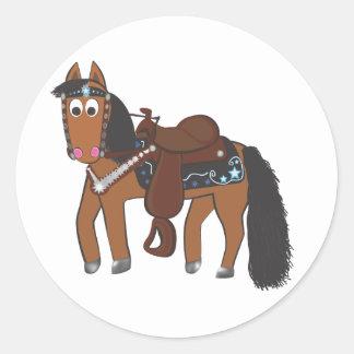 Rikiの西部の馬 ラウンドシール