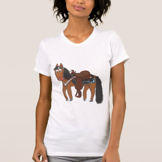 Rikiの西部の馬 Tシャツ