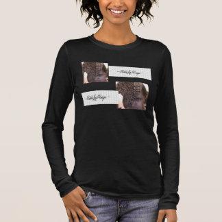 RIKKIのLAの弁柄のBellaのV首のワイシャツ Tシャツ