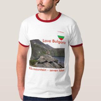 """Rila山- 7つの湖のTシャツ""""愛ブルガリア Tシャツ"""