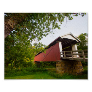 Rinard Covered Bridge, Ohio ポスター