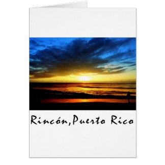 Rinconのビーチプエルトリコ カード