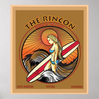 RINCON SANバーバラカリフォルニアのサーフィン ポスター