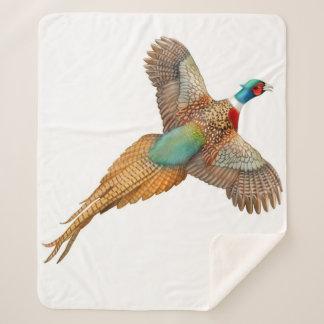 Ring Necked Ringneck Pheasant Sherpa Blanket シェルパブランケット